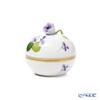 Herend 'Sisi Violet' Gold VIOLET 06033-0-09 Round Box (Rose knob) H7.5cm