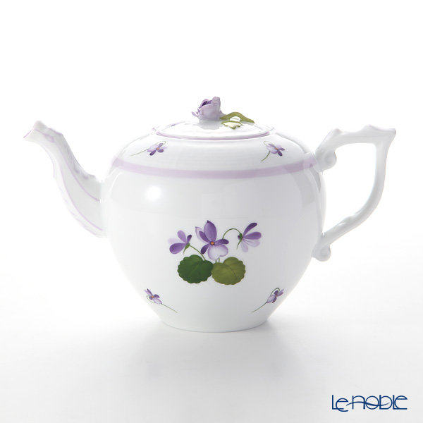 Herend 'Sisi Violet' Lilac VIOLETL 00606-0-09 Tea Pot (Rose knob) 800ml