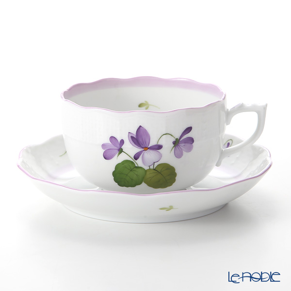 Herend Violet Sisi Anniversary 3 Tea Cup & Saucer 200 cc, VIOLETL 00724-0-00