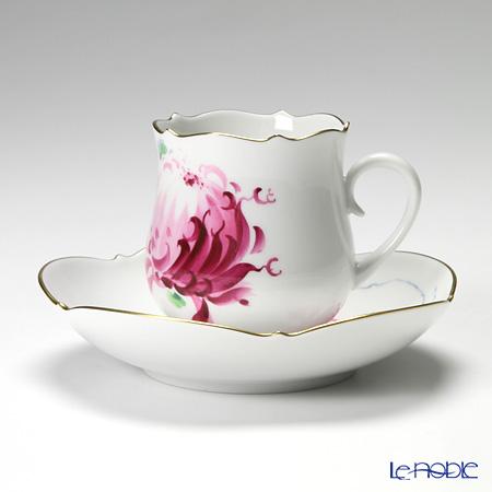 マイセン(Meissen) パープル菊 610710/23582 コーヒーカップ&ソーサー 150cc