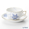 Herend 'Blue Orchid' ORCHIG 20724-0-00 Tea Cup & Saucer 200ml