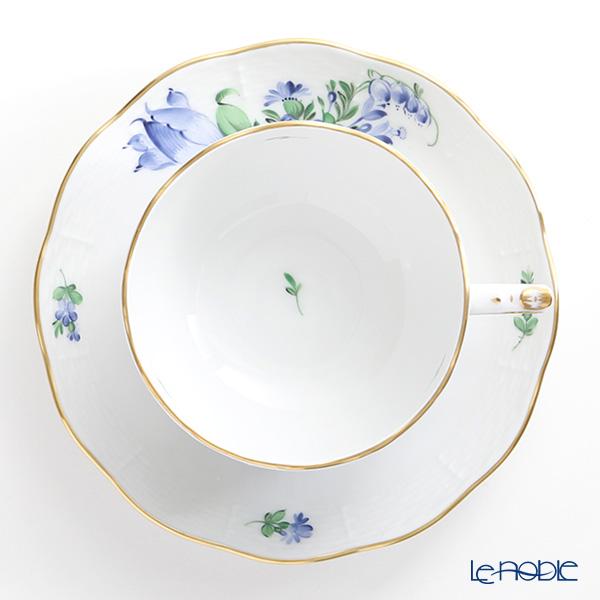 Herend 'Pintemps Blue / Bunch of Tulip (Flower Bouquet)' BTB1-4 00724-0-00 Tea Cup & Saucer 200ml