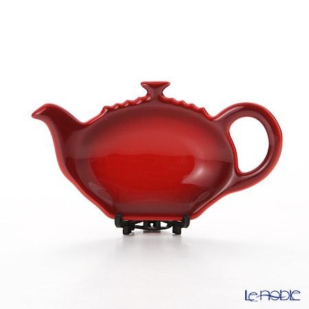 Le Creuset 'Classic - Pot' Cerise Cherry Red [Stoneware] Tea Bag Holder 12.5cm