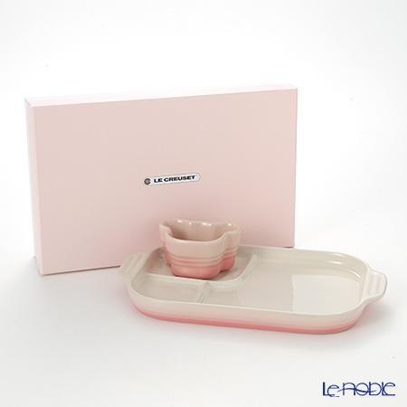 Le Creuset Baby Multi Plate & Ramekin Set, milky pink, stoneware