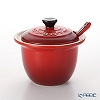 Le Creuset Condiment Pot with Spoon 10 cm, cherry red, stoneware