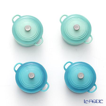 ル・クルーゼ(LeCreuset) マグネット 4個セット ビーチカラー2色 グリーン2個+ブルー2個