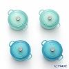 ル・クルーゼ(LeCreuset) マグネット 4個セットビーチカラー2色 グリーン2個+ブルー2個