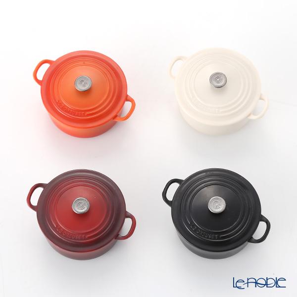 ル・クルーゼ(LeCreuset) マグネット(4個入リ) レッド/オレンジ/ホワイト/ブラック