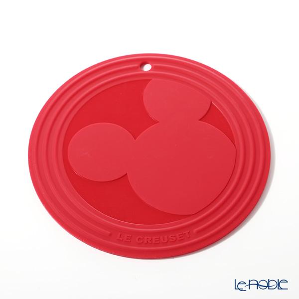 ル・クルーゼ(LeCreuset) トリベット(鍋敷き) ミッキーマウス 20cm チェリーレッド シリコン製 ミッキー90周年デザイン