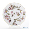 Herend 'Royal Garden Butterfly Flower Dark Pink & Brown / Email Victoria'VICT2 00517-0-00 Plate 19cm