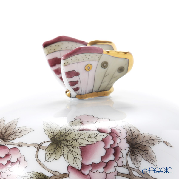 ヘレンド パステルヴィクトリア VICTF2 00393-0-17(フラワー)バターケース(チョウ)14.8cm