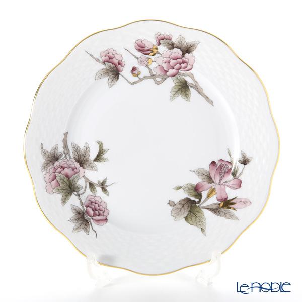 Herend 'Royal Garden Flower Dark Pink & Brown / Email Victoria'  VICTP2 00517-0-00 Plate 19cm