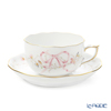 Herend 'Eden Simple (Flower Ribbon)' Pink EDENPS-2 20724-0-00 Tea Cup & Saucer 200ml