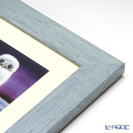 Enamel Cloisonne / Kyoto Shippo Art 'Owl - Purple' Panel / Plaque 18x18cm