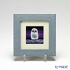Enamel Cloisonne (Kyoto Shippo Art) Owl - Purple 17.8x17.8cm