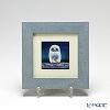 Enamel Cloisonne (Kyoto Shippo Art) Owl - Light Blue 17.8x17.8cm