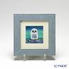 Enamel Cloisonne / Kyoto Shippo Art 'Owl - Light Green' Panel / Plaque 18x18cm