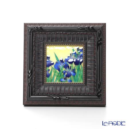Enamel Cloisonne (Kyoto Shippo Art) Rabbitear Iris 16.5x16.5cm