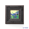 Enamel Cloisonne (art SHIPPO) IRIS amount 16.5 x 16.5 cm black