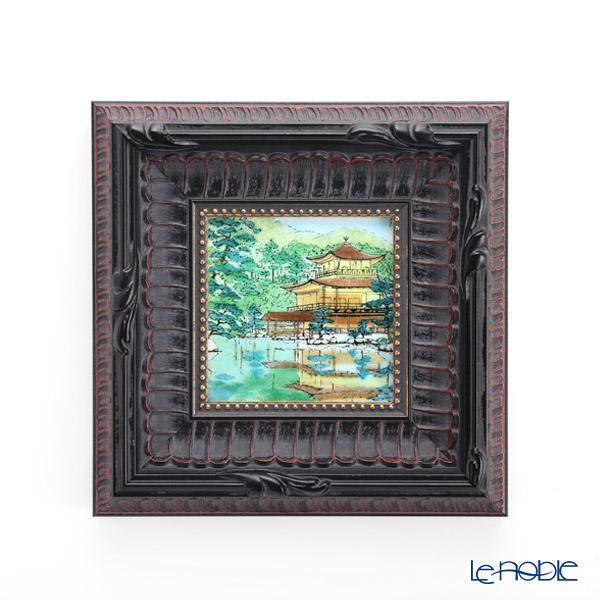 Enamel Cloisonne / Kyoto Shippo Art 'The Kinkaku of Rokuon-ji Temple' Panel / Plaque 17x17cm