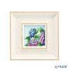Enamel Cloisonne / Kyoto Shippo Art 'Kyoto Mimuroto-ji Temple Hydrangea (Flower)' Panel / Plaque 17.5x17.5cm