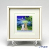 Enamel Cloisonne (Kyoto Shippo Art) Cats in the Moonlitht Night 25.8x25.8cm