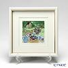 Enamel Cloisonne / Kyoto Shippo Art 'Garden Party' Panel / Plaque 26x26cm