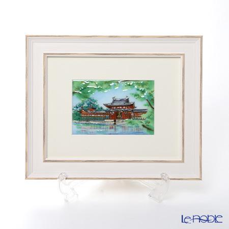 京七宝額(アートSHIPPO) 平等院 新緑 額24×29.5cm ホワイト