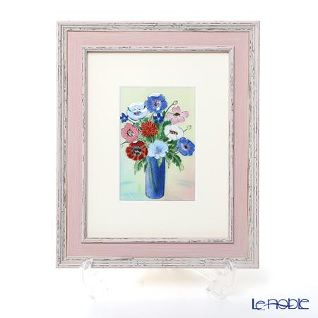 京七宝額(アートSHIPPO) ポピー 額24×29.5cm ピンク
