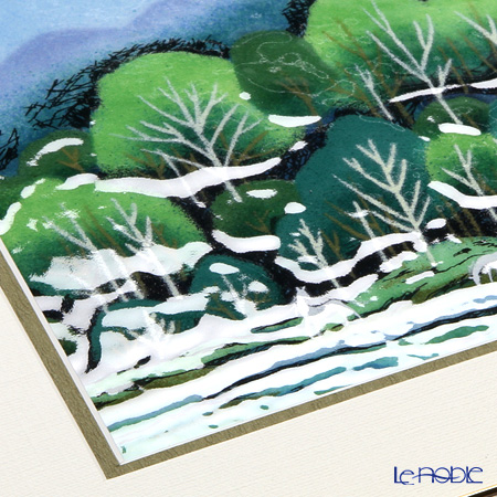 Enamel Cloisonne / Kyoto Shippo Art 'Forest with a White Horses' Panel / Plaque 28.5x28.5cm