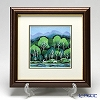 Enamel Cloisonne Forest of white horse 28.5 x 28.5 cm