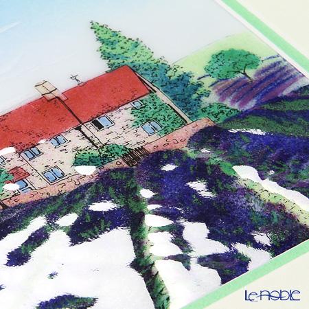 Enamel Cloisonne Lavender's fields 29.5 x 29.5 cm