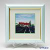 Enamel Cloisonne / Kyoto Shippo Art 'Lavende'r Field Panel / Plaque 29.5x29.5cm