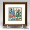 Enamel Cloisonne Christmas tree 29 x 29 cm