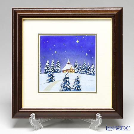 京七宝額(アートSHIPPO) ホワイトクリスマス 29×29cm