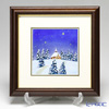 Enamel Cloisonne White Christmas 29 x 29 cm