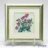 Enamel Cloisonne / Kyoto Shippo Art 'Wild Rose' Panel / Plaque 29x29cm
