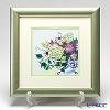 Enamel Cloisonne / Kyoto Shippo Art 'Clematis' Panel / Plaque 29x29cm