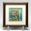 Enamel Cloisonne Museum in the forest 28.5 x 28.5 cm