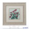 Enamel Cloisonne (art SHIPPO) Wild rose ivory gold 32 x 32 cm