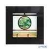 Enamel Cloisonne / Kyoto Shippo Art 'Kyoto Genko-an Satori no mado / Green Leaves' Panel / Plaque 24.5x24.5cm