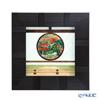 Enamel Cloisonne / Kyoto Shippo Art 'Kyoto Genko-an Satori no mado / Autumn Leaves' Panel / Plaque 24.5x24.5cm
