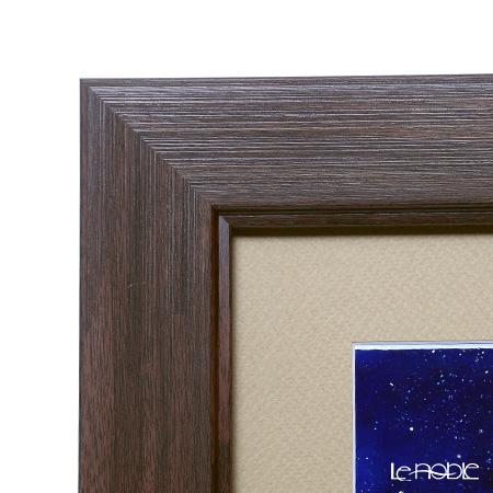 Enamel Cloisonne (art SHIPPO) Galaxy Railways 32 x 32 cm beige mat