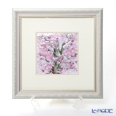 京七宝額(アートSHIPPO) 桜 額32×32cm オフホワイト