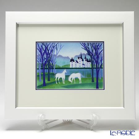 Enamel Cloisonne / Kyoto Shippo Art 'Chateau' Panel / Plaque 42x35cm