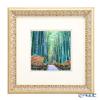 Enamel Cloisonne / Kyoto Shippo Art 'Kyoto Sagano Bamboo Forest Path' Panel / Plaque 32.7x32.7cm