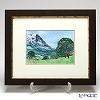 Enamel Cloisonne / Kyoto Shippo Art 'Grindelwald' Panel / Plaque 41x34cm