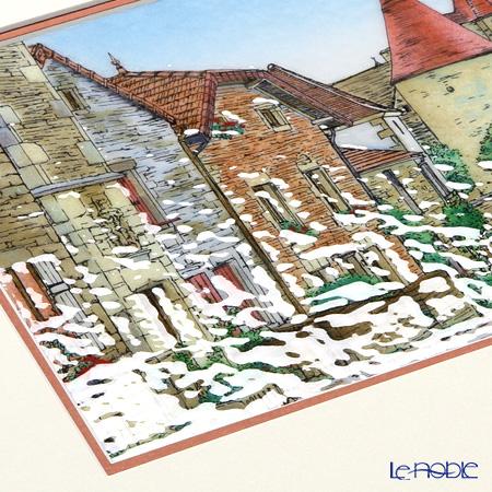 Enamel Cloisonne / Kyoto Shippo Art 'Burgundy / Bourgogne' Panel / Plaque 43x35.5cm