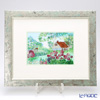 Enamel Cloisonne Garden of Aryumu 33.5 x 40.5 cm