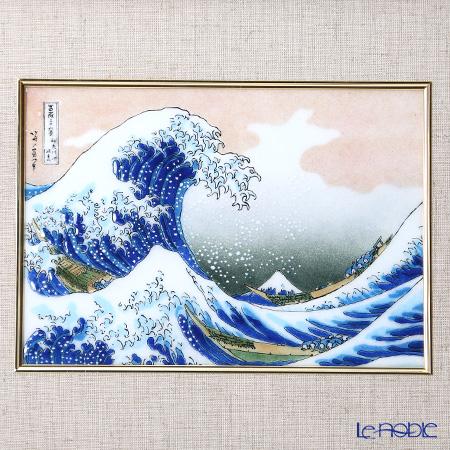Enamel Cloisonne / Kyoto Shippo Art 'The Great Wave off Kanagawa - Hokusai' Panel / Plaque 40.5x37.5cm